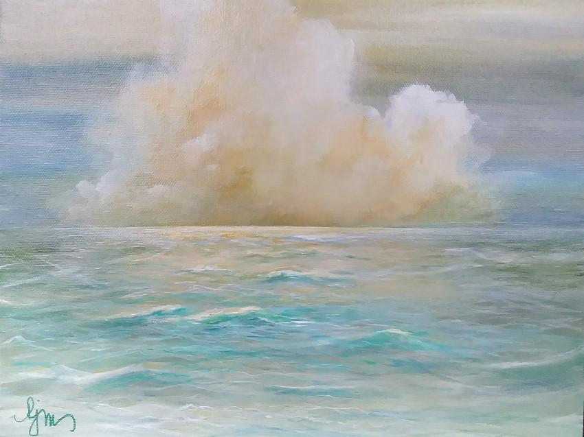 """Horizon 11"""" by 14"""" unframed, $110 by Becky Melcher"""
