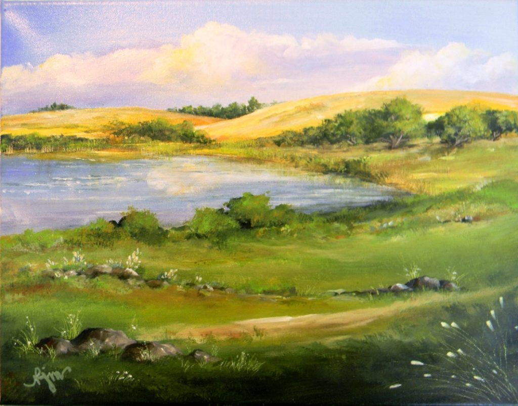 """On the Palouse, 14"""" by 11"""" - $90"""