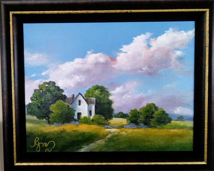 "Summer on the Farm 15"" by 18"" - $150 by Becky Melcher"