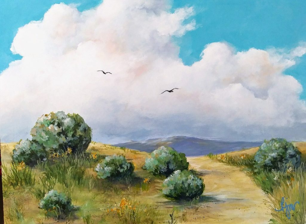 """The Well Traveled Path 12"""" by 16"""" unframed $125 by Becky Melcher"""