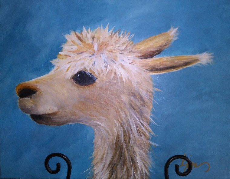 "Hey... Where did Al Paca go?, 14"" by 11"" unframed $115"