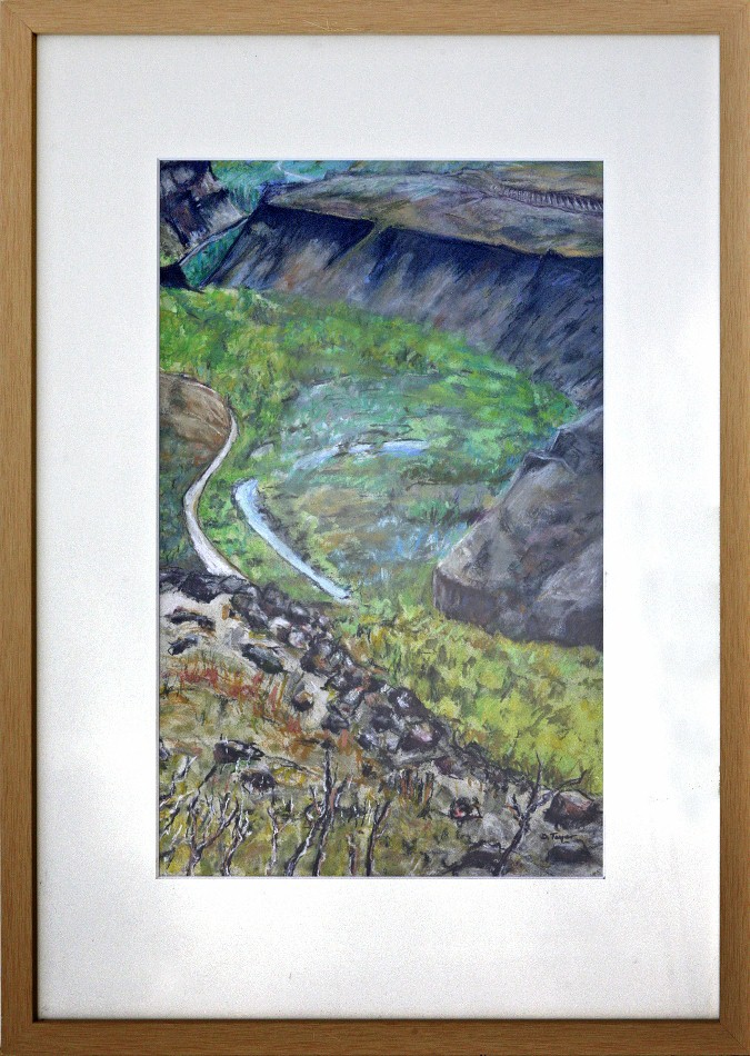 Cowiche Canyon - 1, pastel, 18x24, $400 by Delma Tayer