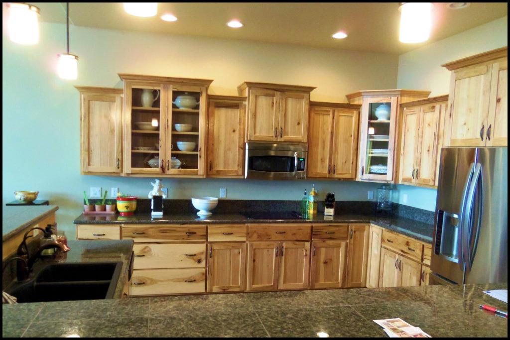 Custom hickory cabinets