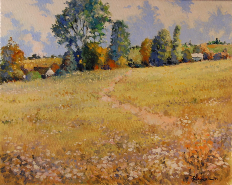 """Field Blossoms"" Oil on canvas - 16"" x 20"" $650"