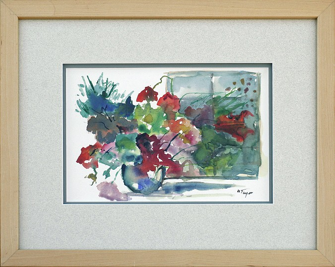 Floral by Window, watercolor, 13x16, $250 by Delma Tayer
