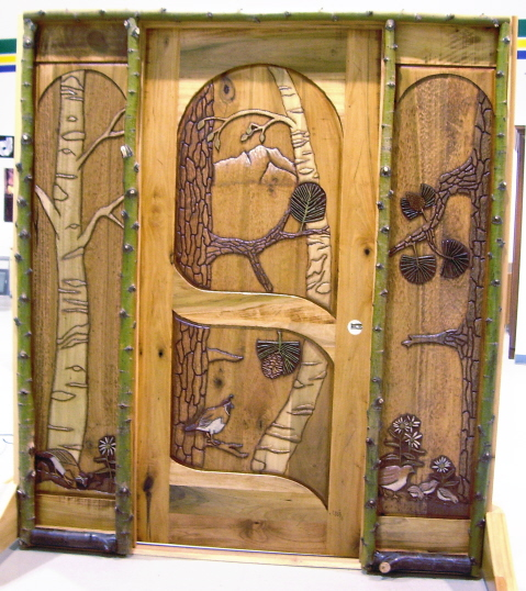 Quail Forest Entry Door and side panels