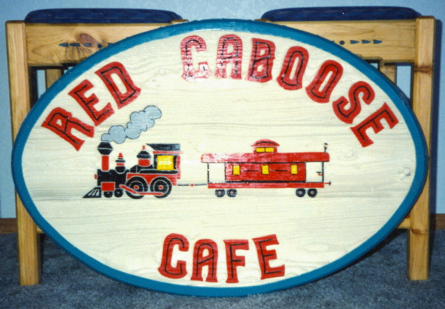 Red Caboose Cafe sign