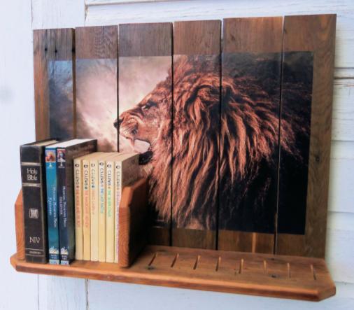 Retro Racks - Refurbished old wood re-purposed into functional art.
