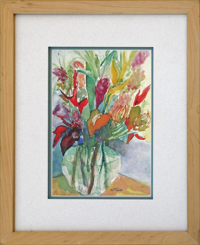 Hawaiian Floral, watercolor, 13x16, $250 by Delma Tayer