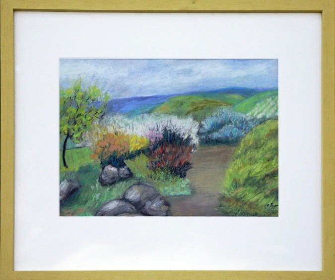 High Spring Garden, Pastel, 17x21, $400 by Delma Tayer