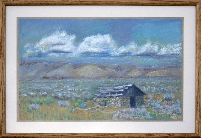 Home Steading, Pastel, 16.5x24, $350 by Delma Tayer