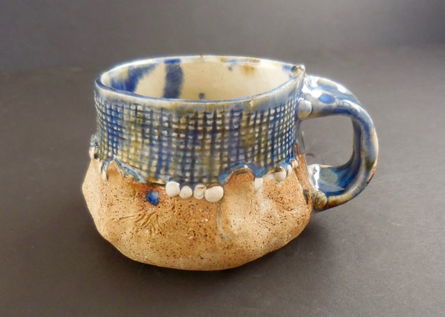 Coffee Cup, Blue glaze top