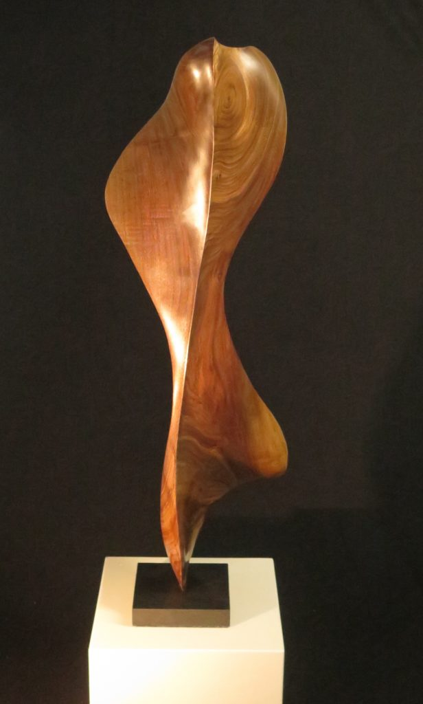 Dancer On Pointe, 35x10x9, Black Walnut on Marble Base.
