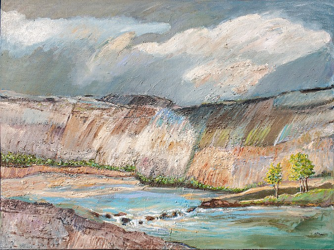 "Steep Canyon, oil, 36"" x 48"" - 0$1,500 (plus shipping) by Delma Tayer"