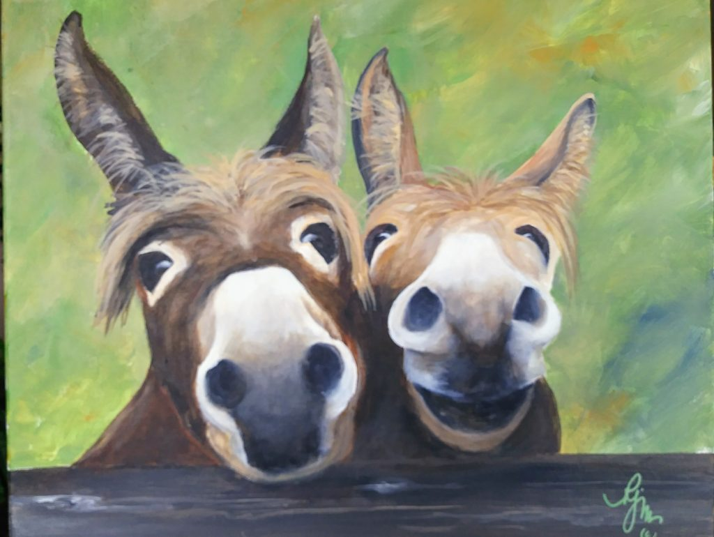 "Tell Us More... We're All Ears, 20"" by 16"" $200"