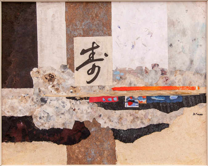 Zen, Collage, 20x24,$500 by Delma Tayer