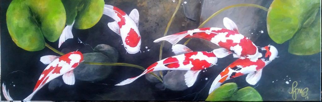 "Koi 12"" by 36"" $350"
