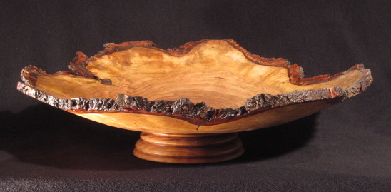 "Cherry Burl Elevated Platter - (Private collection, not for sale) 26"" diameter elevated platter... or is it a shallow bowl?"