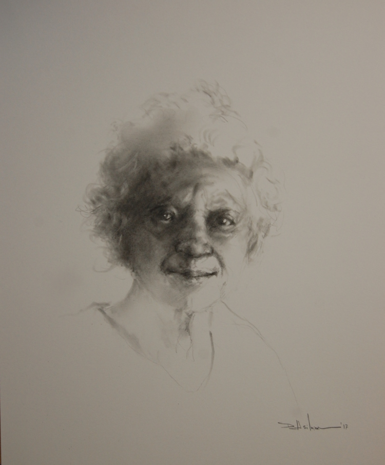 """Old Woman - Head Study"" Pencil - 11"" x 14"" $150"