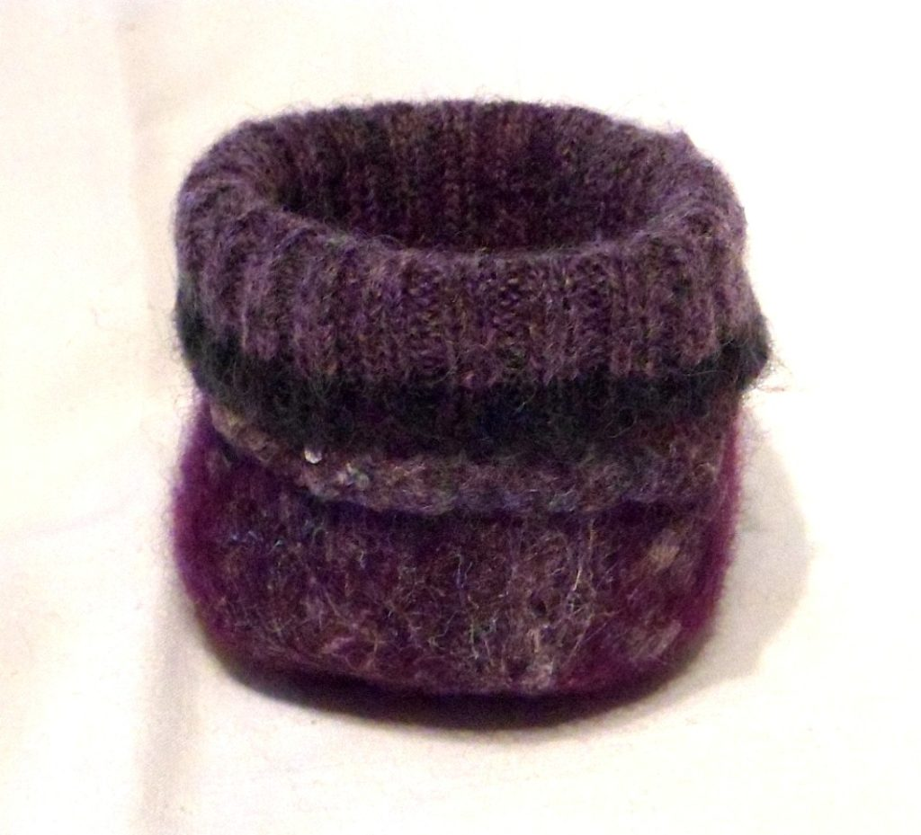 "Sweater cuff tiny bowl - approx 3.5"" base"