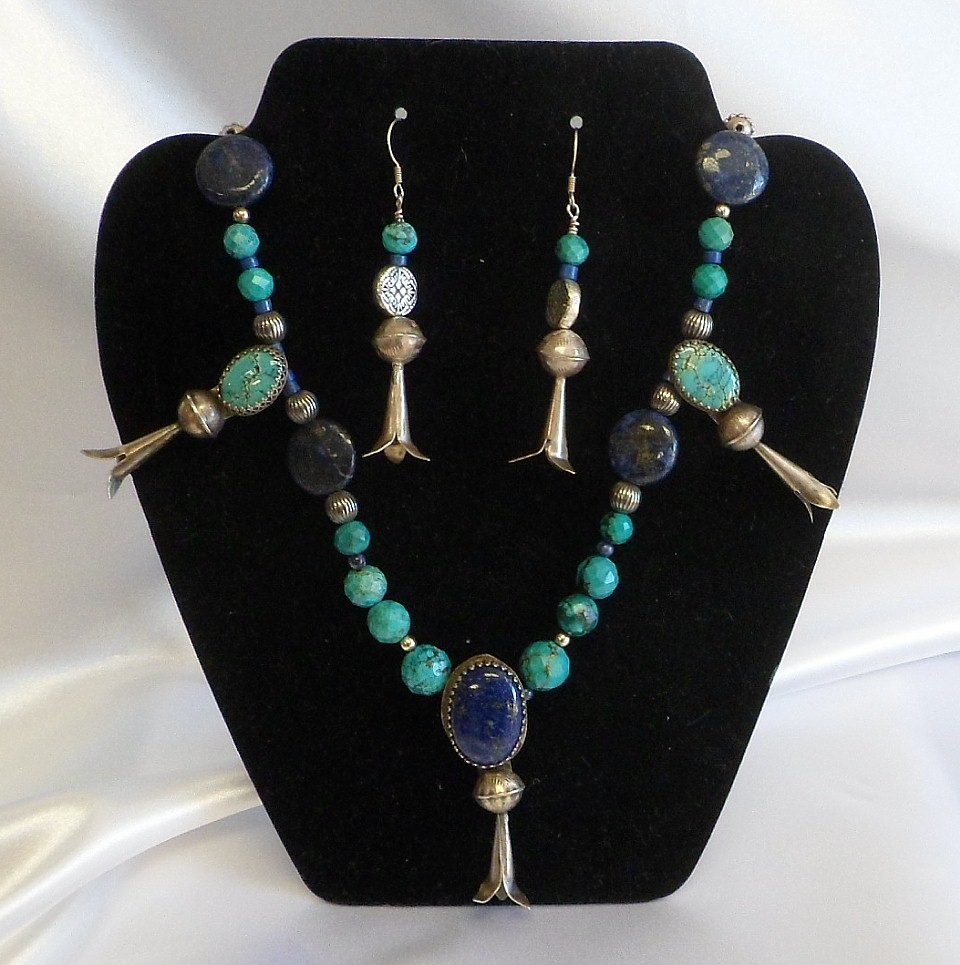 Heirloom Turquoise Necklace and Earrings set