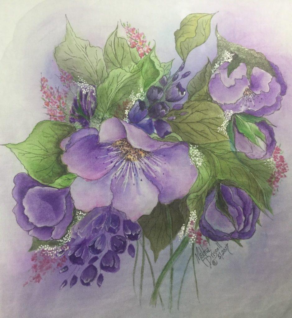 "Purple Passion - 5 x 12"" (Inktense on Fabric)"