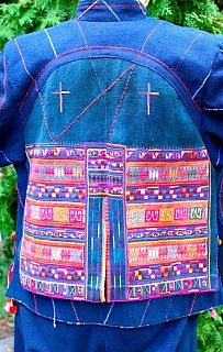 I used remnants of old Akha tribal clothes to embellish the jacket.