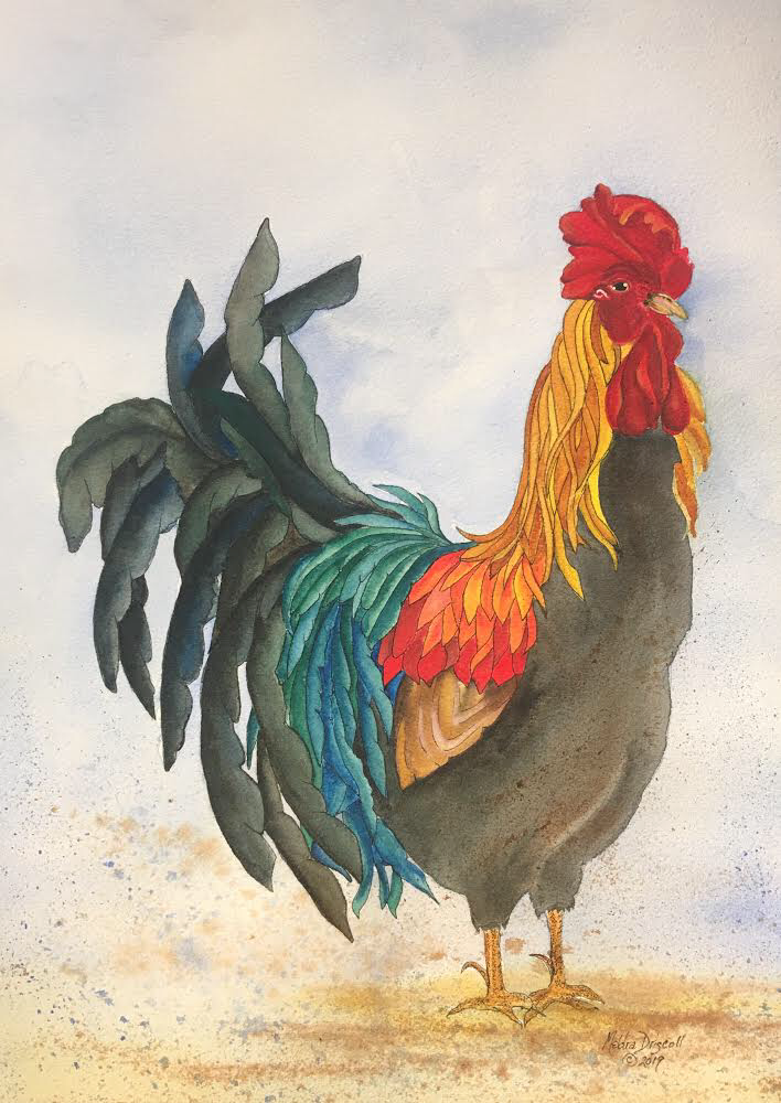 Meldra Driscoll Water Colors & Inktense Inktense and watercolor methods of painting are exactly the same, using wet on wet washes and layering of transparent colors.