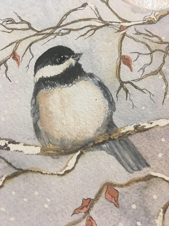 """Snowbound Chickadee"" Intermediate"