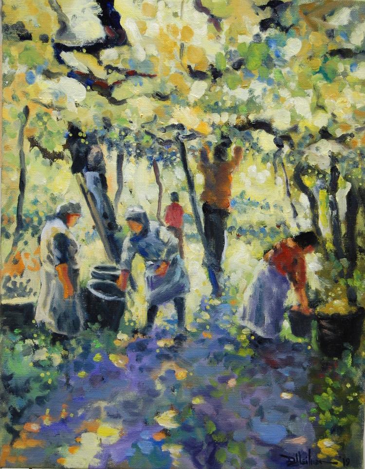 "Old World Grape Arbor 14"" x 18"" $500"
