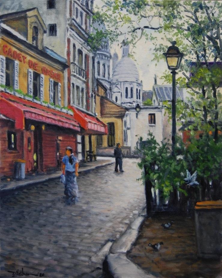"""Montmartre District"" Oil – 16"" x 20"" ~ Sold ~"