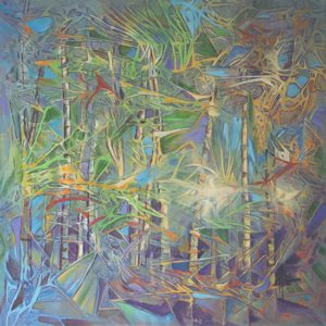 "Bamboo Forest II Acrylic on Canvas 24 x 24"" $430"