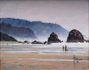 South Cannon Beach I Acrylic on Canvas 8 x 10  unframed $265