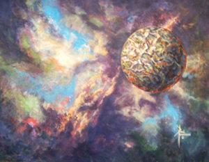 "The Heavens Open Acrylic on Canvas 16 x 20"" $380"
