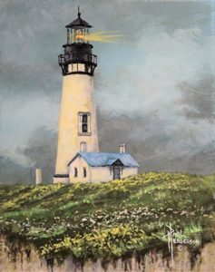 Yaquina Head Lighthouse Acrylic on Canvas 10 x 8 $275