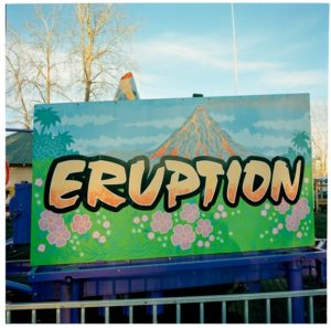 Eruption photographic print on kozo paper, 15 x 15, by John Kane