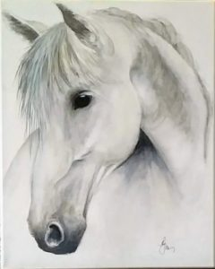 Silver Stallion is 20x16 unframed $180
