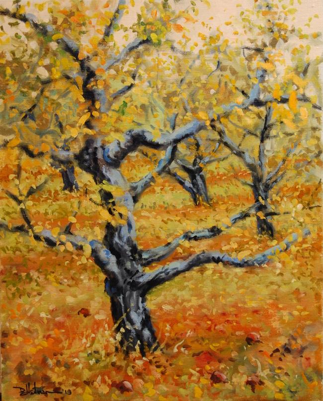 "Fall Orchard 16"" x 20"" $650"