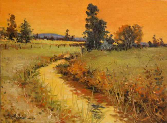 "Evening Creek 12"" x 16"" $300"