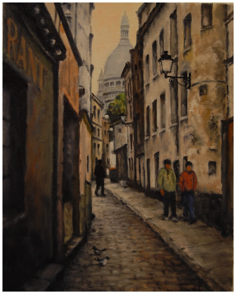 """Paris Side Street 14"""" x 18"""" $500"""