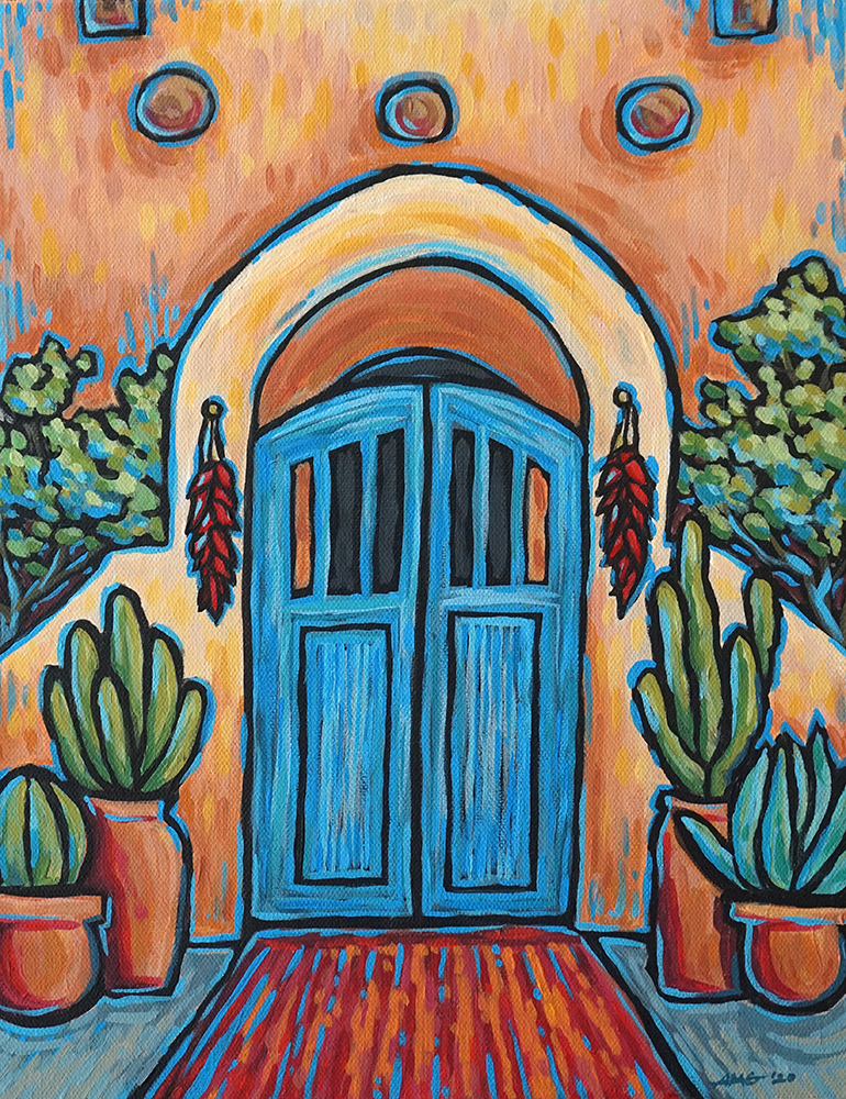 "Adobe Door Print - 11""x14"" Price: $32"