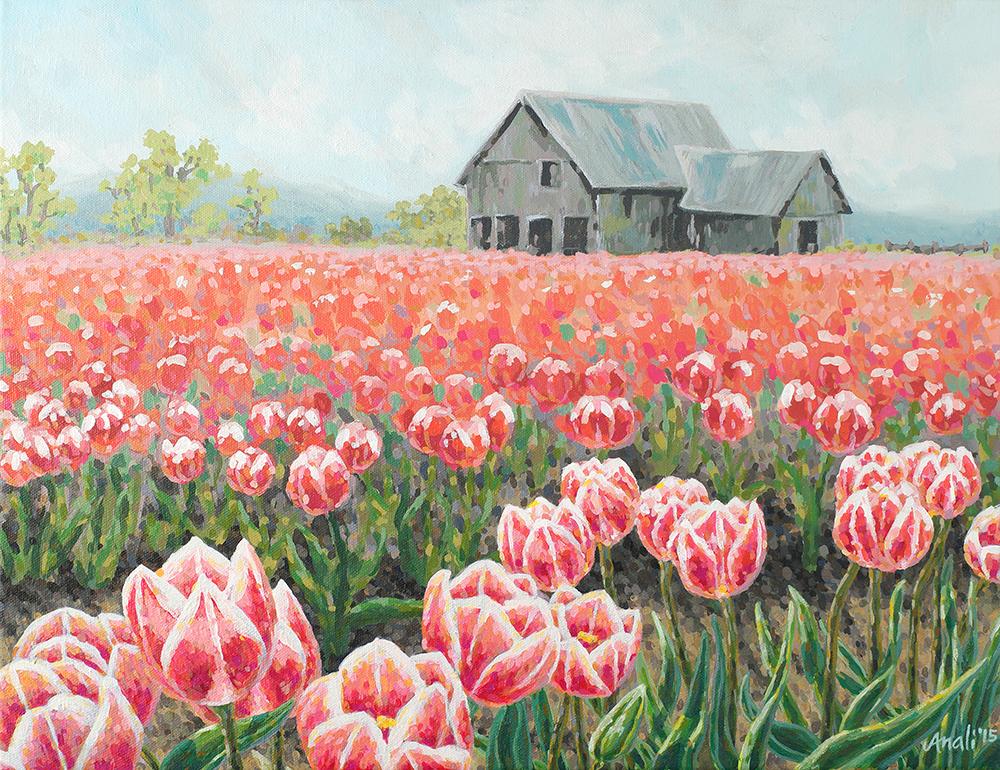 """Tulip Field Print - 11""""x14"""", 8""""x10"""", 5""""x7"""" Price: $32, $22, $12"""