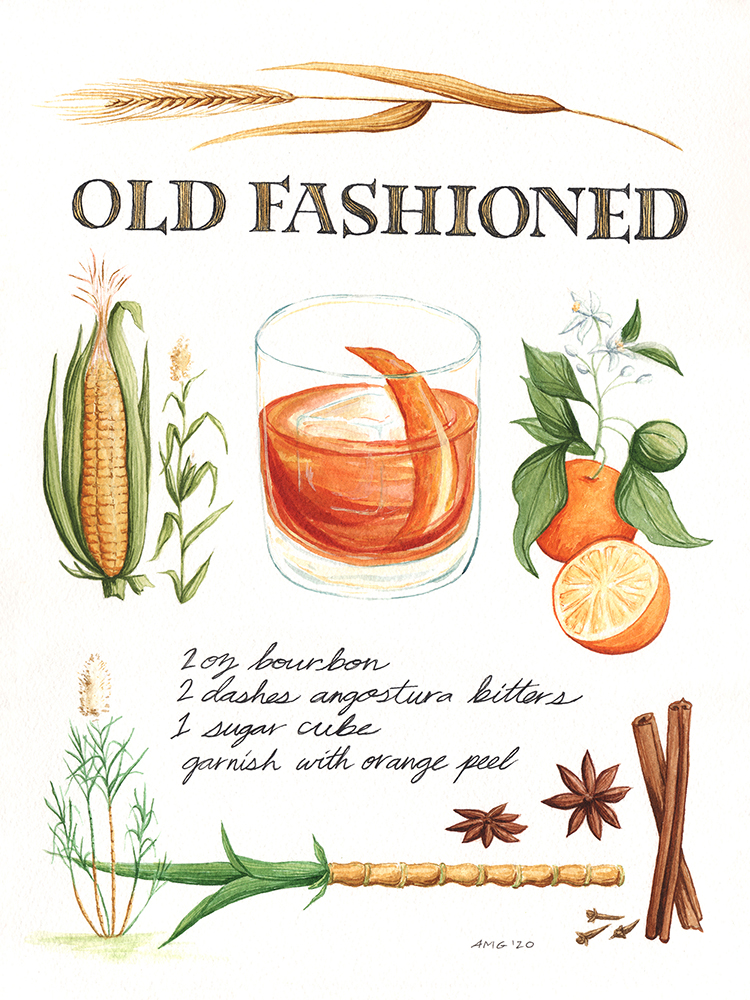 "Old Fashioned Botanical Print - 11""x14"", 8""x10"" Price: $32, $22"