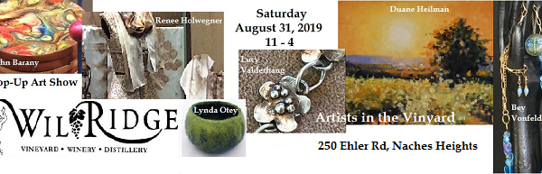 Pop-Up Art Show at Wilridge Winery, 250 Ehler Rd, Naches Heights