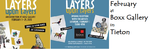 Boxx Gallery, 1616 Maple Street, Tieton, Open Saturdays, 11 – 4