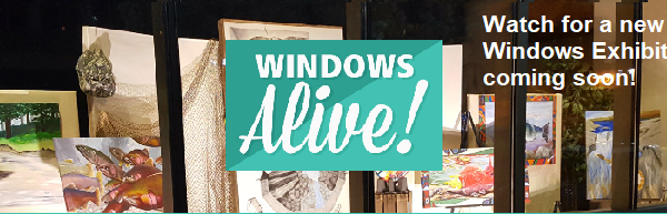 Click or Tap to find our more about Windows Alive artists! Downtown Yakima Windows.