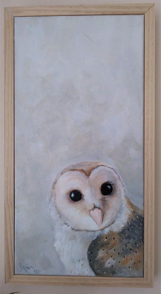 "Keen Eyes, 20+"" by 10+"" framed - $200 by Becky Melcher"