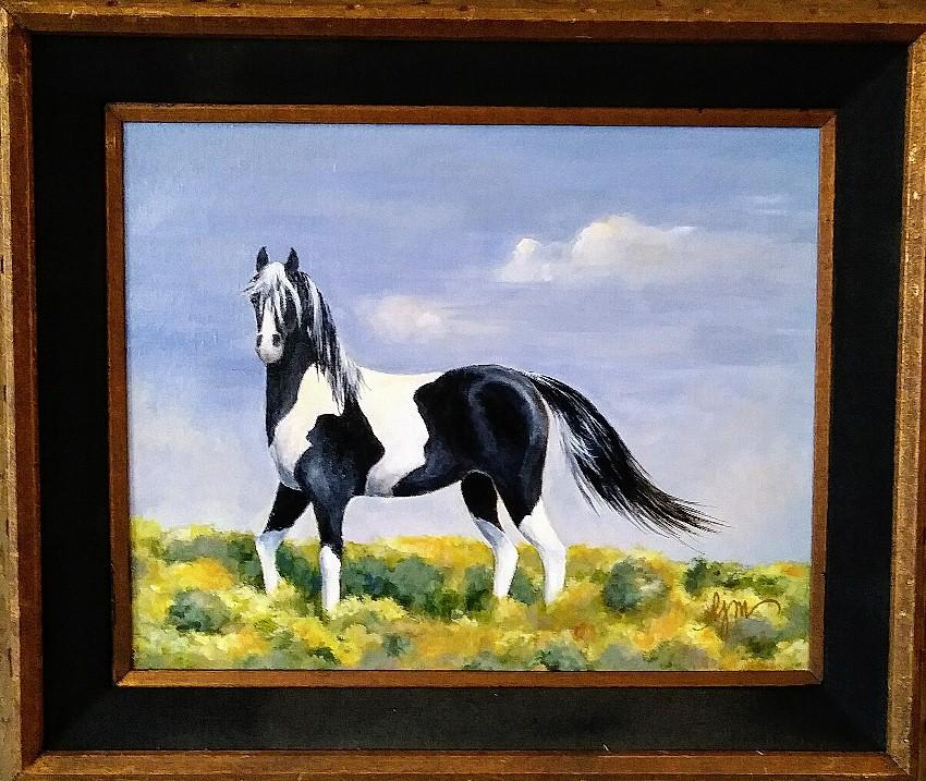 "Paint 23"" by 27"" framed, Acrylic $150"