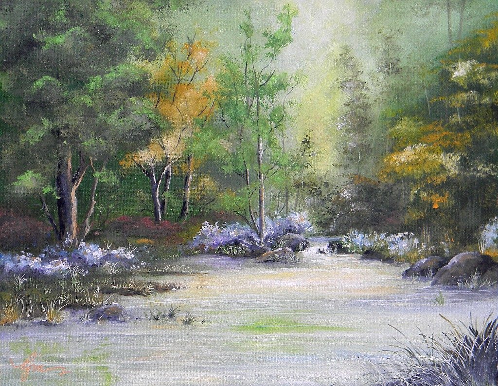 """Quiet Pool, 14"""" by 11"""" - $125"""
