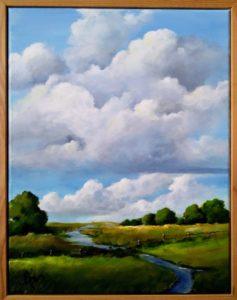 "The Stream 15.5"" by 19.5"" framed $150 by Becky Melcher"